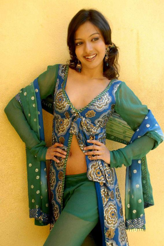 Catherine Tresa Hot Stills In Green Dress