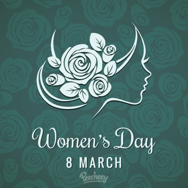8 march Happy womens day background Free vector