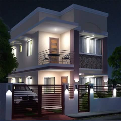 65 Contoh Desain Rumah Minimalis Modern 2 Lantai Berbagai Model
