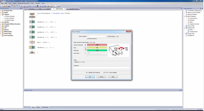 Prior Lake Robotics: VEX Programming Video: How To Program