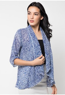 Gambar Blazer Batik Kombinasi