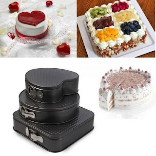 Square round and heart wedding cake pans