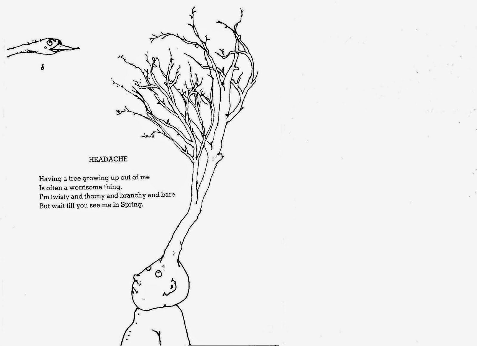 Shel Silverstein Poems: Quitty Prickly: The Poet Tree