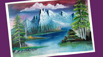 Greatest painters of all time, scenery drawing of nature