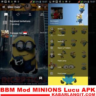 BBM MOD Minions Despicable Me v3.0.0.18 Apk Terbaru