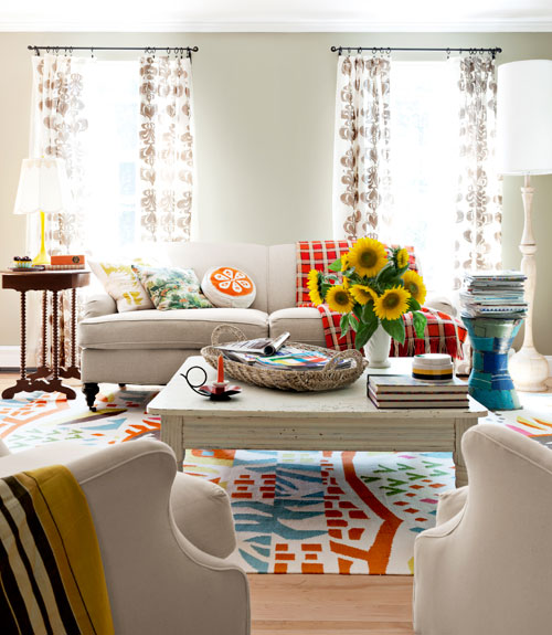 Mix And Chic: Home Tour- A Textile Designer's Colorful Home