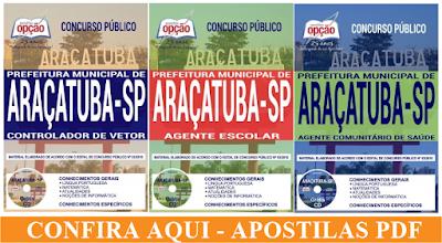 Apostilas PDF da Prefeitura de Araçatuba 2018 - Todos os cargos