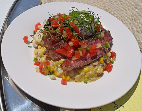 Chef Andi Cagle's NY Strip entry at the World Food Championship qualifier was gorgous