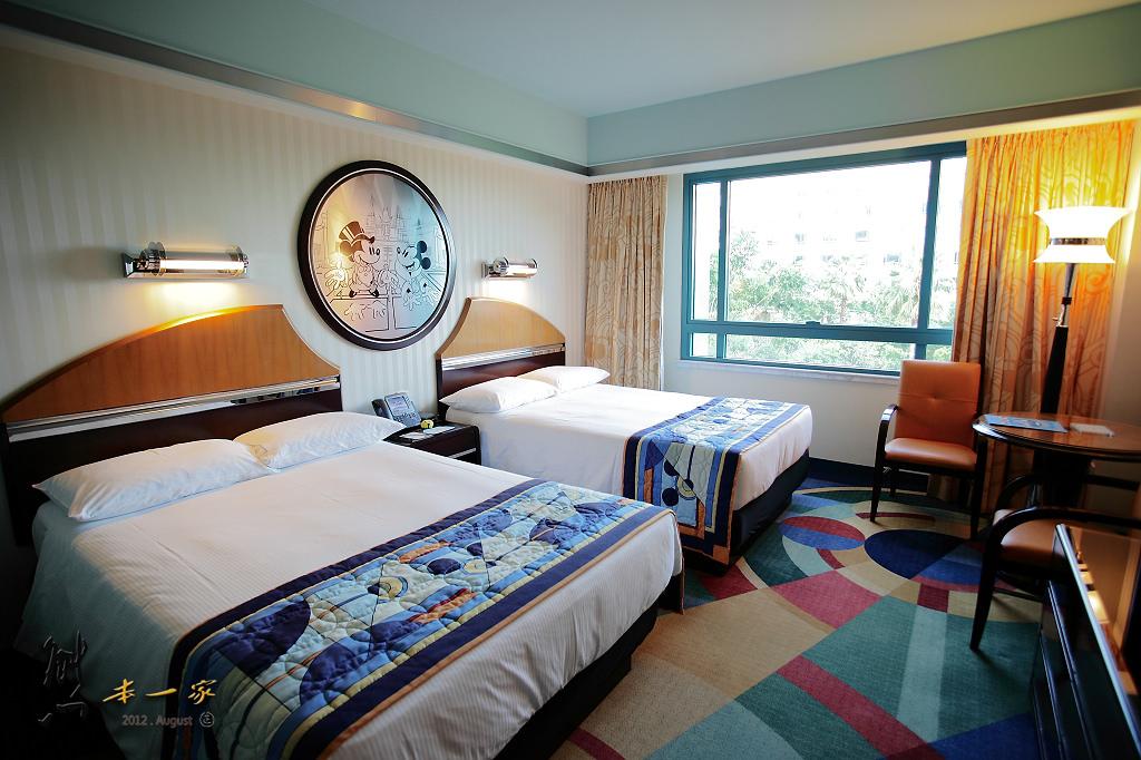 【香港住宿】迪士尼好萊塢酒店|房型~家庭四人房設施