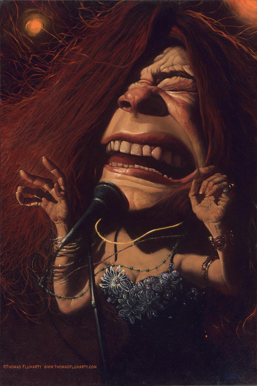 Janis Joplin por Thomas Fluharty