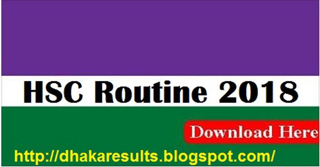 HSC Exam Routine 2018 Download