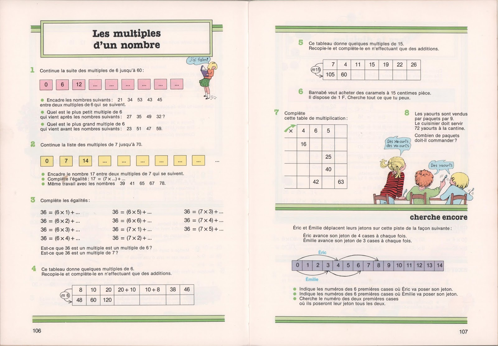 Les tables de multiplication Le Matou matheux