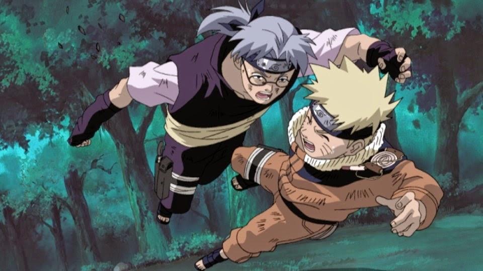 Kabuto salva a Naruto
