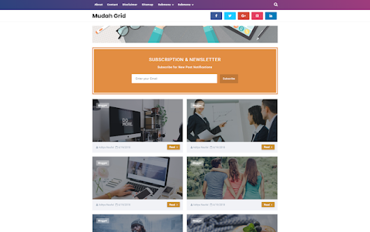 Mudah Grid Blogger Templates - Kaizentemplate - Rebuild Another Awesome Blogger Templates