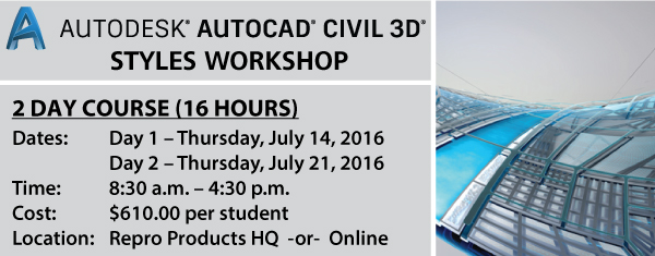 AutoCAD Civil 3D Styles Workshop Graphic