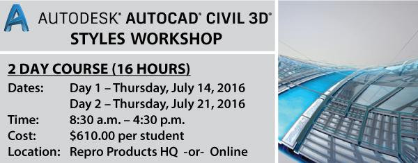 AutoCAD Civil 3D Styles Workshop Graphic