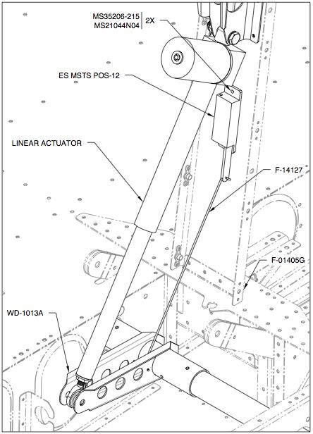 E's Van's RV-14A: Avionics: Flap position sensor.