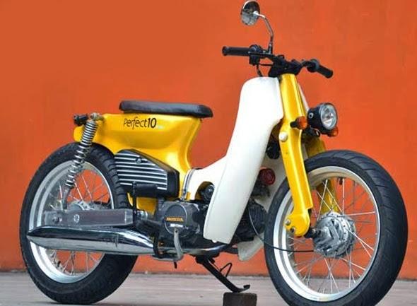 modifikasi motor honda bebek 70 terpopuler
