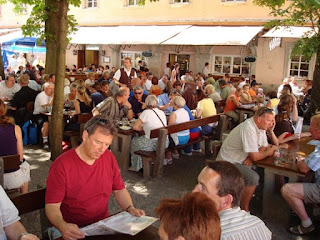 Weltenburg Abbey beer garden