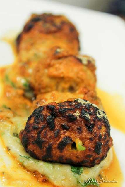 Vegetarian Cheese Tandoori Stuffed Mushrooms Food Photography