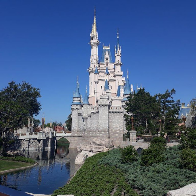 Walt Disney World Cinderella Castle with Moat