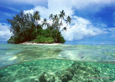 Isole coralline sparite: riscaldamento globale