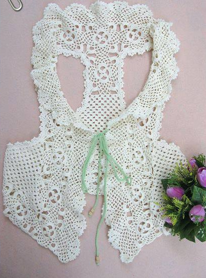 Patrón #1672: Chaqueta a Crochet