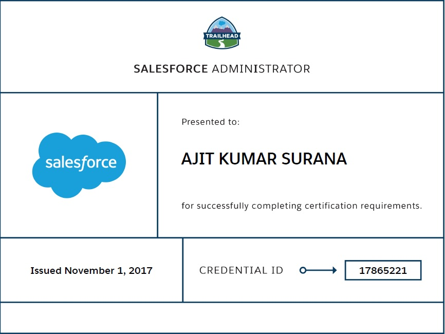 Ajit On Cloud How To Pass Salesforce Certified Administrator