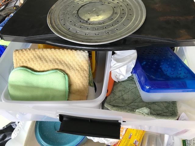 camping drawer system, camping washpan