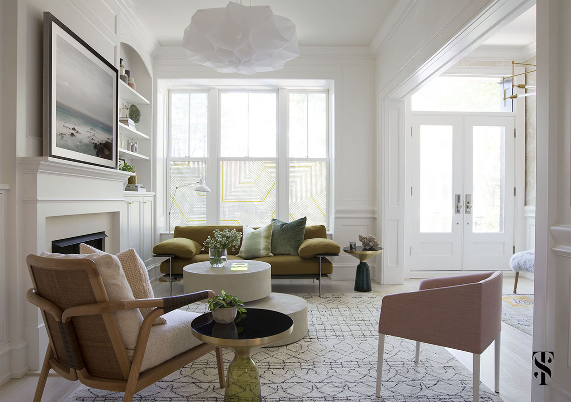 Modern decor in a Lincoln Park luxury home designed by Summer Thornton