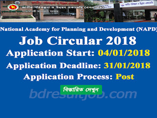 National Academy for Planning and Development (NAPD) job circular 2018