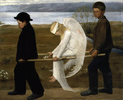 Hugo Simberg, The Wounded Angel, Anjo, Anjo Ferido, Angel