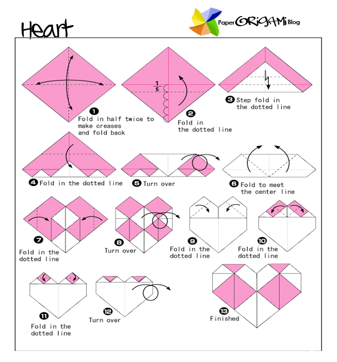 Money Heart Origami Tutorial