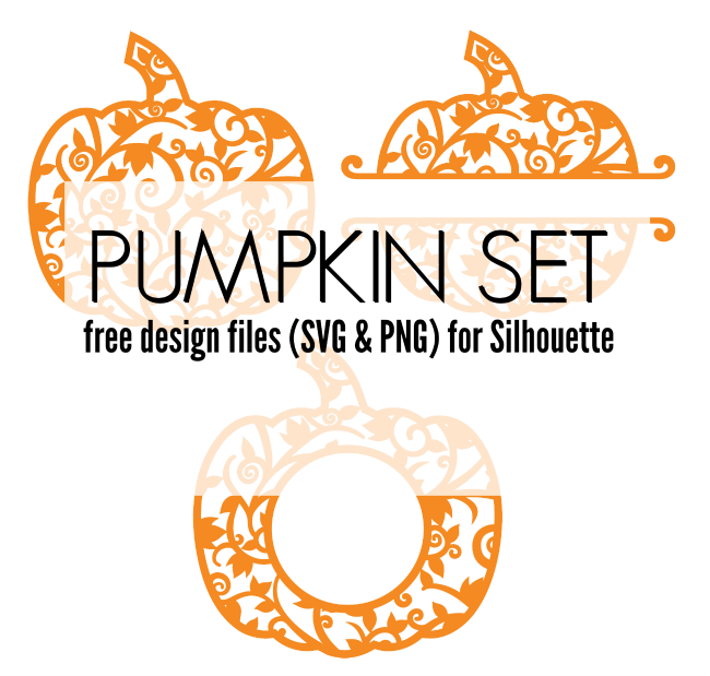 pumpkin set, svg pumpkins, pumpkin monogram, pumpkin design files