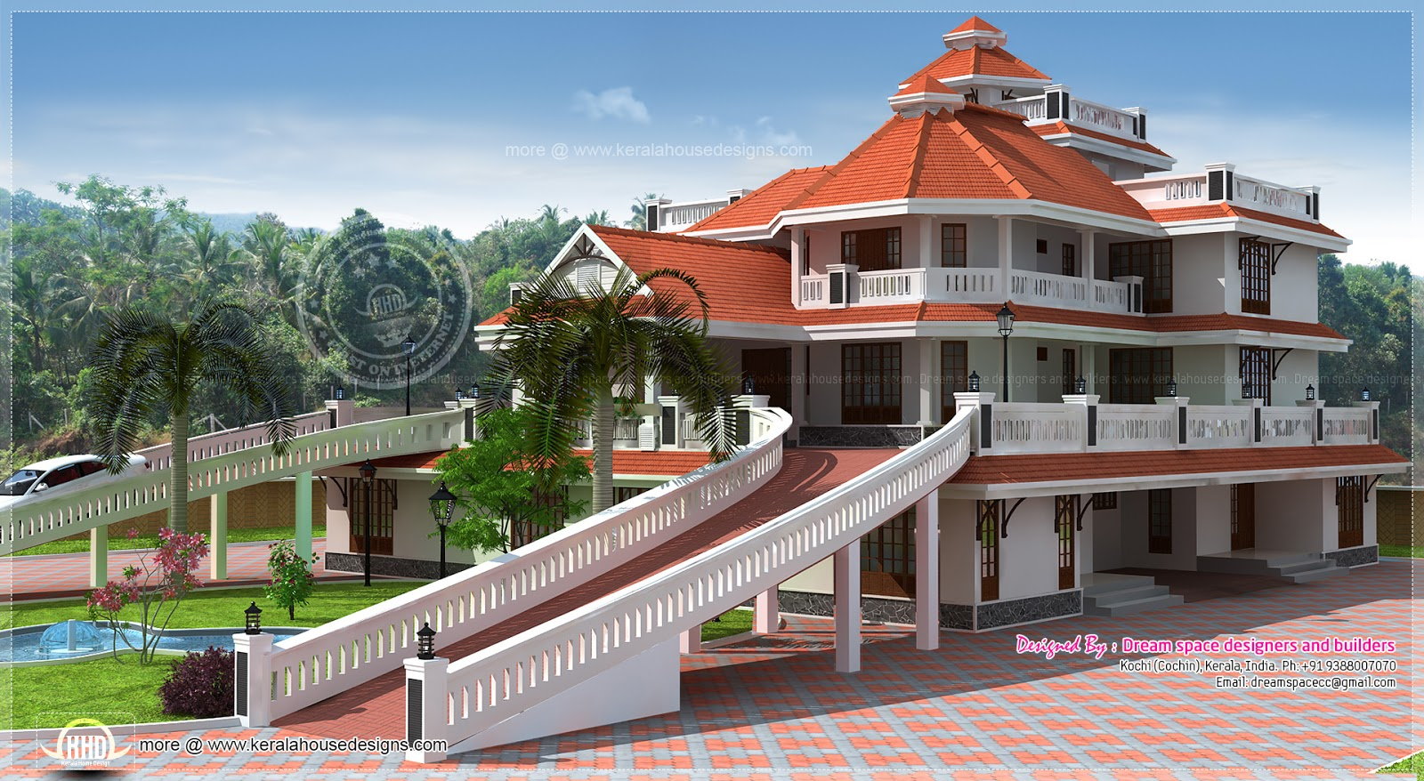 3 storey super luxury mansion in Kerala