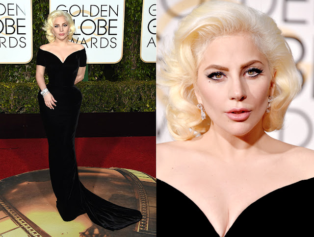 Lady Gaga in Versace - Golden Globe Awards 2016