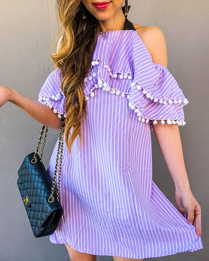 asos pom pom dress, chanel classic flap bag, kendra scott earrings, must have date night dress, san francisco fashion blog, san francisco street style, date night dress ideas