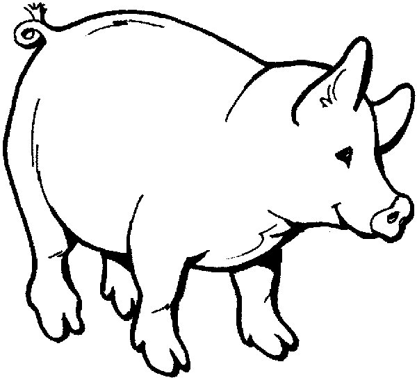 pig coloring book pages - photo#17
