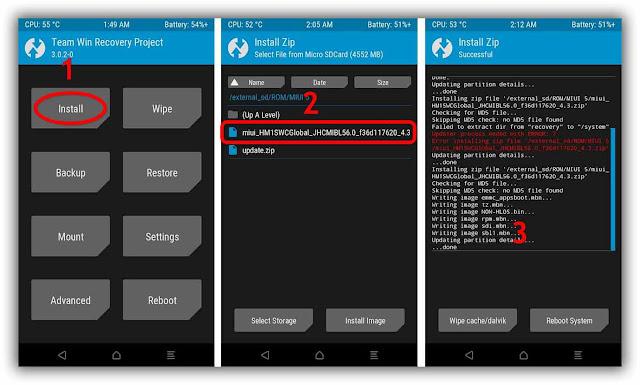 Cara Mudah Update Xiaomi Redmi 1S ke MIUI 8