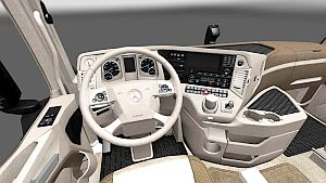 Cream Brown interior skin for Mercedes MP4