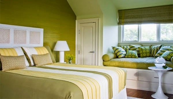 habitación verde lima