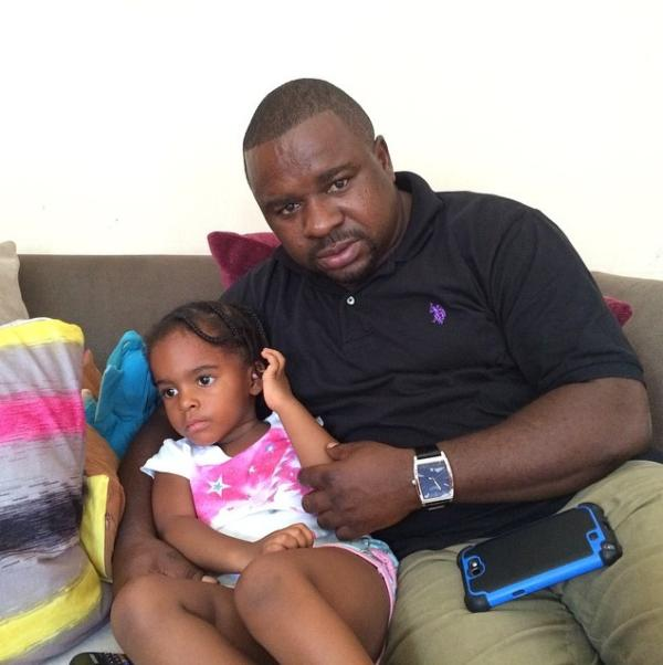 Mbeya Urban MP Joseph Mbilinyi with his daughter Sasha