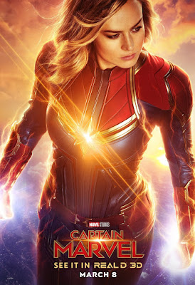 Captain Marvel RealD 3D Theatrical One Sheet Movie Poster