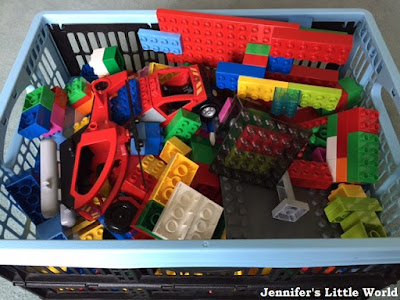 Large box of Duplo Lego