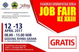 Jadwal Job Fair Jawa Tengah Bulan April 2017