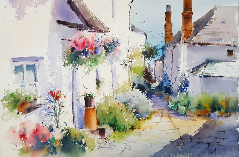 Beautiful Watercolor Paintings by Blanca Alvarez from Malaga, Spain.