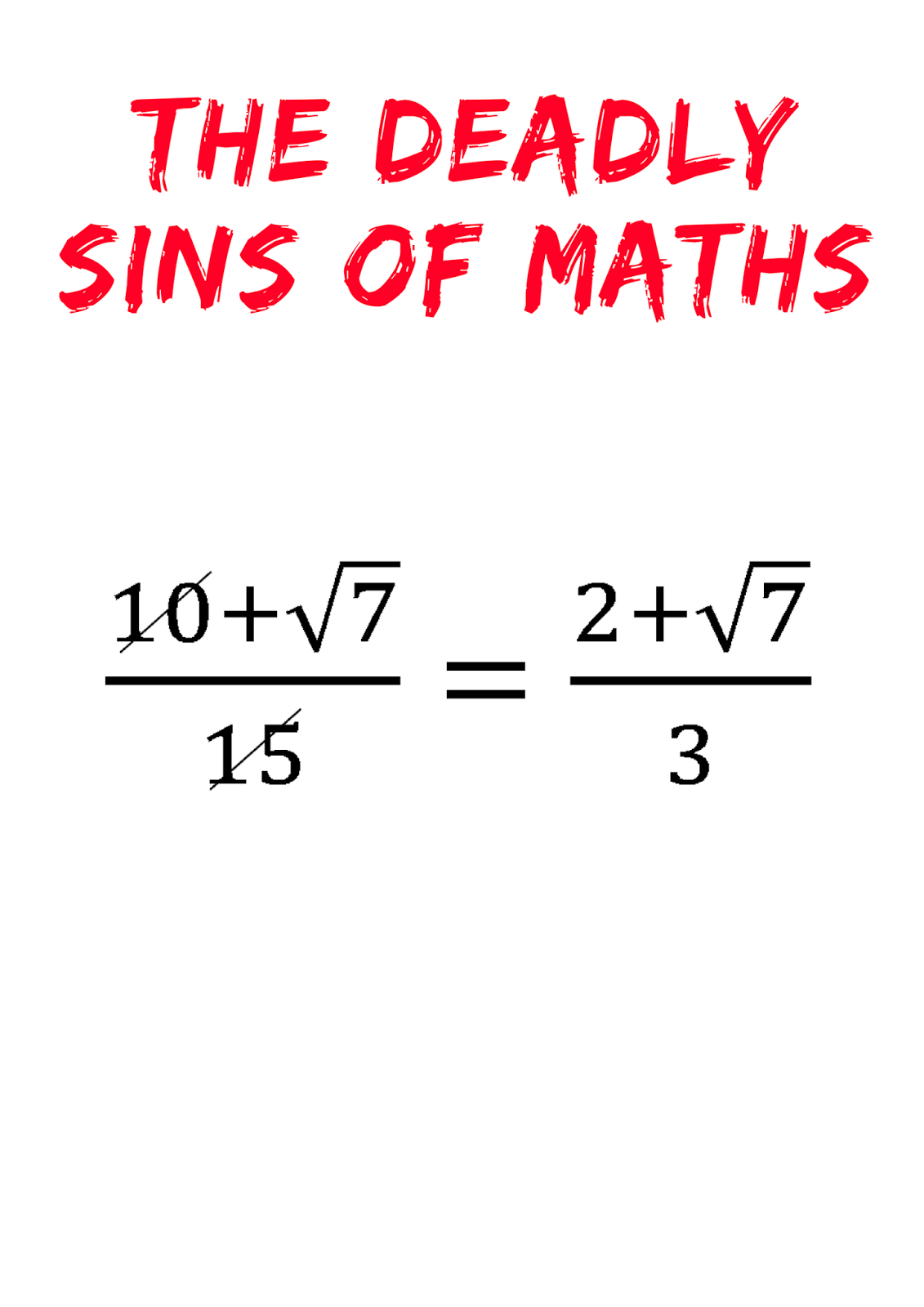 Resourceaholic: The Deadly Sins of Maths