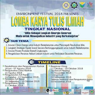 Lomba Karya Tulis ilmiah Environment Festival 2018
