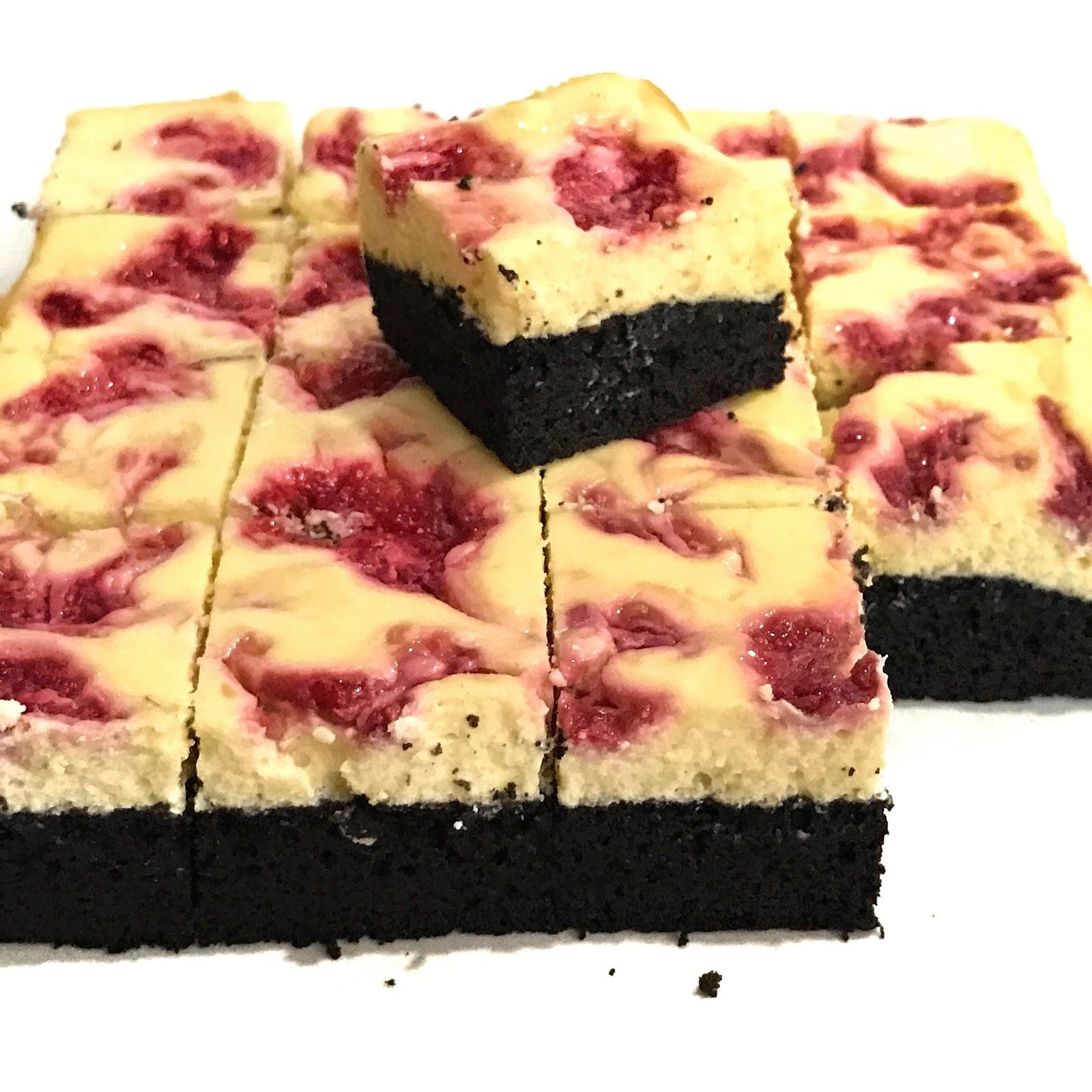 Sherbakes: Raspberry Swirl Cheesecake Brownie
