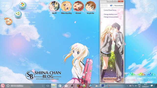 Windows 10 Ver. 1709 Theme Shigatsu wa Kimi no Uso by Enji Riz